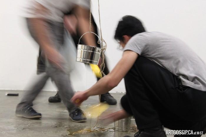 TouVA Offspring mop up honey after Christina Mayder's performance.
