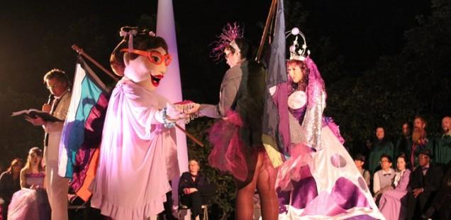 Purple Wedding to the Moon