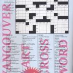 Vancouver Art Crossword
